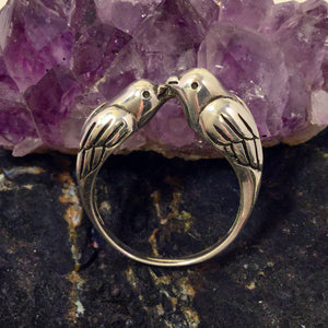 Kissing Birds Ring - Ring - AlphaVariable