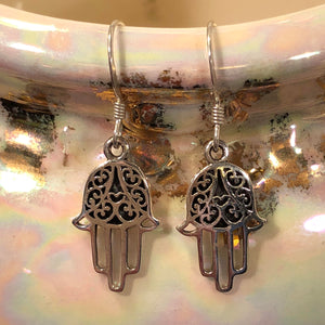 Hamsa Earrings - Earrings - AlphaVariable