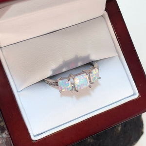 Opal Engagement Ring - Ring - AlphaVariable