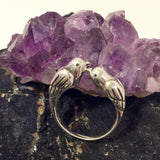 Kissing Birds Ring Sterling Silver - Sterling Silver Rings - AlphaVariable