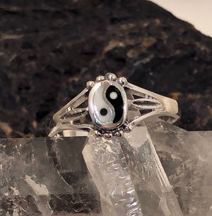 Yin Yang Ring Sterling Silver - Ring - AlphaVariable
