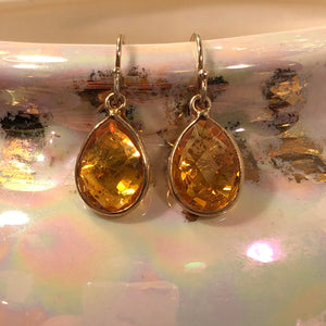 Citrine Earrings - Earrings - AlphaVariable