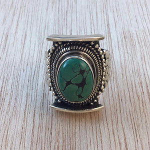 Turquoise Statement Ring - Turquoise Ring - AlphaVariable