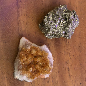 Citrine + Pyrite Crystal Bundle -  - AlphaVariable