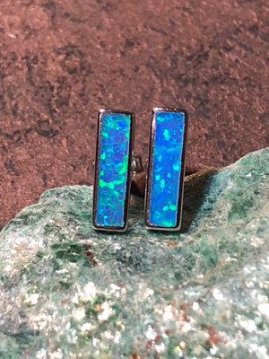 Opal Bar Earrings -  - AlphaVariable