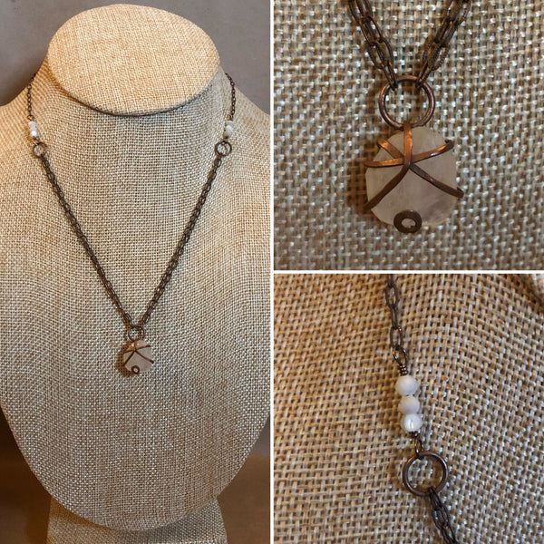 Copper Moonstone Necklace -  - AlphaVariable
