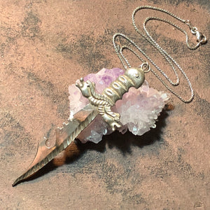 Vintage Sword Necklace