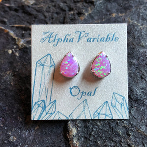 Pink Opal Earrings - Earrings - AlphaVariable