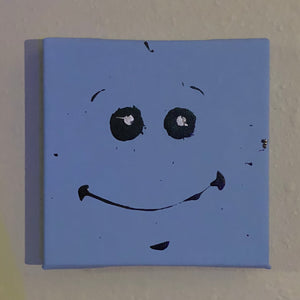 Mr. Meeseeks Painting Rick and Morty Fan Art -  - AlphaVariable