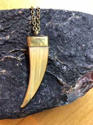 Boho Horn Necklace -  - AlphaVariable