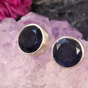 Iolite Earrings - Earrings - AlphaVariable