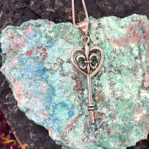 Fleur de Lis Key Necklace - Necklace - AlphaVariable