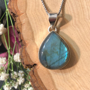 Labradorite Necklace - Necklace - AlphaVariable