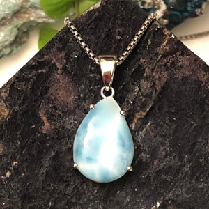 Larimar Necklace - Necklace - AlphaVariable