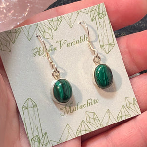 Malachite Earrings -  - AlphaVariable
