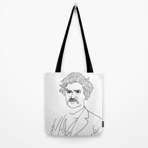 Mark Twain Tote Bag - Tote Bag - AlphaVariable