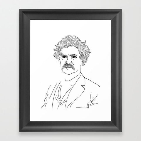 Mark Twain Framed Art Print - Framed Art Prints - AlphaVariable