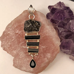 Meteorite Tourmaline Necklace - Necklace - AlphaVariable