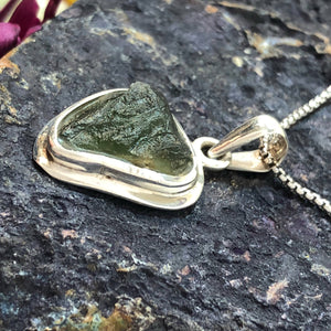 Moldavite Necklace - Necklace - AlphaVariable
