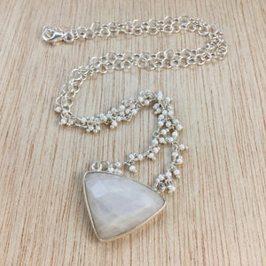 Moonstone Necklace - Necklace - AlphaVariable
