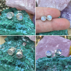 Moonstone Earrings - Earrings - AlphaVariable