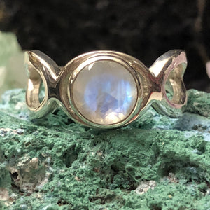 Geometric Moonstone Ring - Ring - AlphaVariable