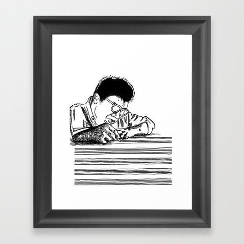 Morton Feldman Framed Art Print - Framed Art Prints - AlphaVariable