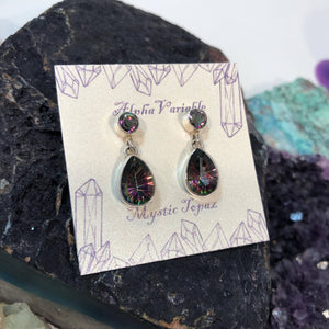Mystic Topaz Earrings - Earrings - AlphaVariable