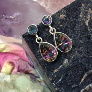 Mystic Topaz Studs - Earrings - AlphaVariable