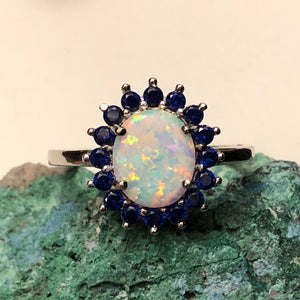 Opal Sapphire Ring - Ring - AlphaVariable