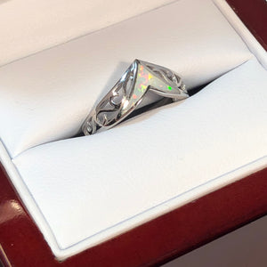 Opal Chevron Ring - Ring - AlphaVariable