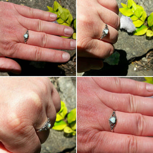 Opal Heart Ring - Ring - AlphaVariable