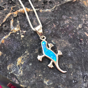 Opal Lizard Necklace - Necklace - AlphaVariable