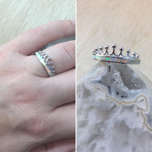 Queen Opal Crown Ring - Ring - AlphaVariable