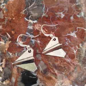 Paper Airplane Earrings - Earrings - AlphaVariable