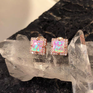 Pink Opal Earrings -  - AlphaVariable