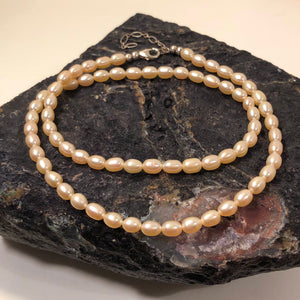 Pink Pearl Necklace - Necklace - AlphaVariable