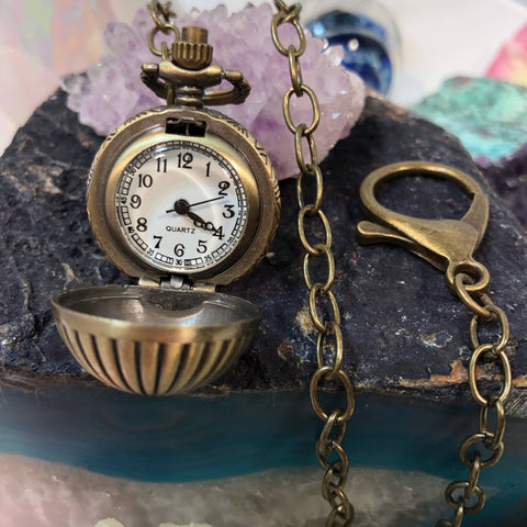 Pocket Watch Orb - Pocket Watch Necklace - AlphaVariable