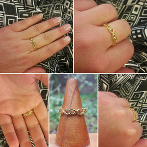 Rose Gold Infinity Ring - Ring - AlphaVariable