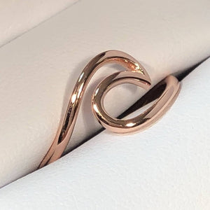 Rose Gold Wave Ring - Ring - AlphaVariable
