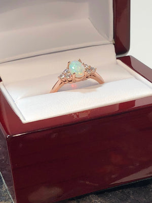 promise ring opal diamond fire