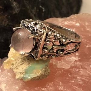 Rose Quartz Crystal Ring - Ring - AlphaVariable