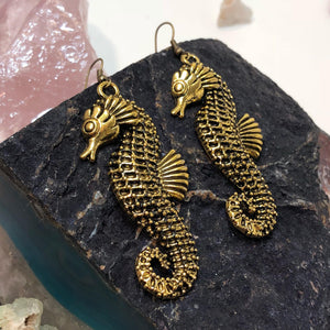 Seahorse Earrings - Earrings - AlphaVariable