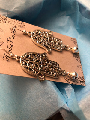 Hamsa Bell Earrings - Earrings - AlphaVariable