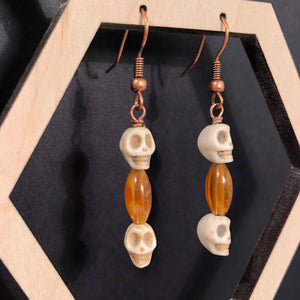 Skull Earrings - Earrings - AlphaVariable
