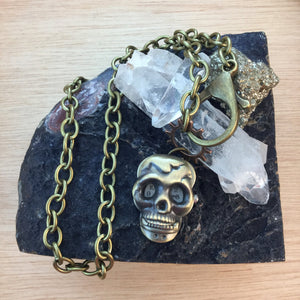 Skull Pocket Watch Necklace - Necklace - AlphaVariable