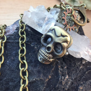 Skull PocketWatch Necklace - Necklace - AlphaVariable