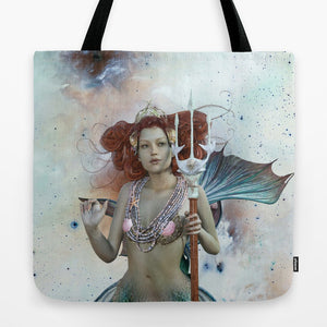 Space Siren Mermaid Tote Bag