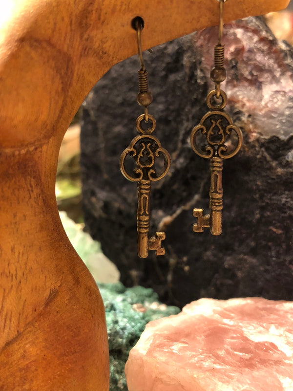 Steampunk Key Earrings - Earrings - AlphaVariable