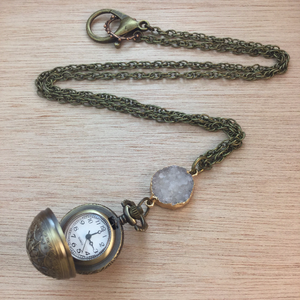 Pocket Watch Necklace - Necklace - AlphaVariable